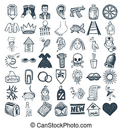 49 hand drawing icon set