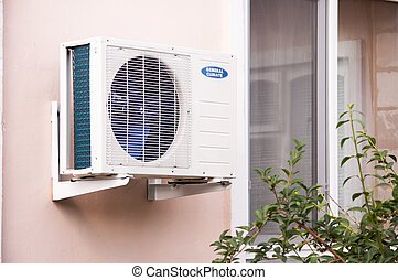 air conditioning - cooler air conditioner on the wall
