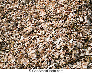 Wood chips mulch background - Wood chips mulch for gardening...