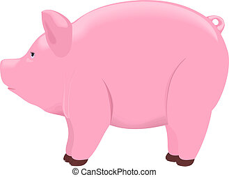 Pink piggy bank Clipart Vector and Illustration. 1,962 Pink piggy ...