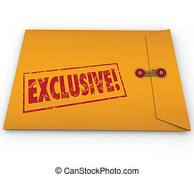 Exclusive Classified Information Content Yellow Envelope...