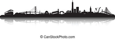 San Francisco Skyline vector - San Francisco City Skyline...