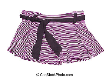 mini skirt - striped pink and white mini skirt with clipping...