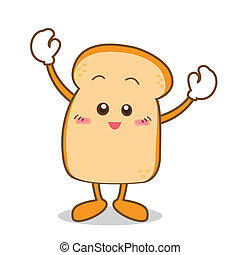 Bread-01 - Isolated Slice of bread cartoon