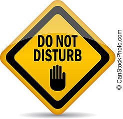 Do not disturb, vector sign
