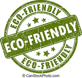 Eco-friendly stamp - Eco-friendly vector stamp