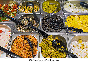 Different kinds of antipasti - Different kinds of antipasta...