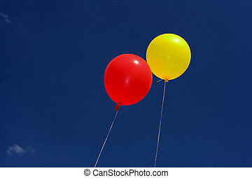 balloons on the sky  - Colorful balloons on the sky