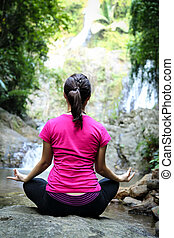Yoga meditation for relax in the outside
