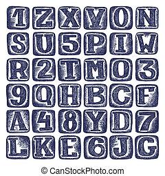 hand draw sketch doodle alphabet design