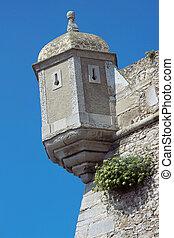 Peniche Citadel in Portugal - Detail of Peniche Citadel and...