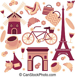 Paris symbols collection