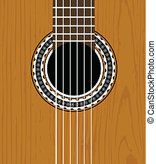 Guitar sound hole background - vector guitar sound hole...