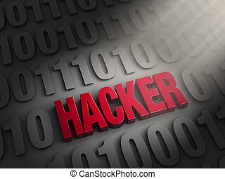 Revealing A Hacker In The Computer Code - A spotlight...