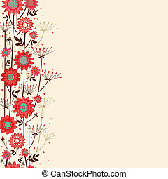 vector fond decorative flowers - vector fond background with...