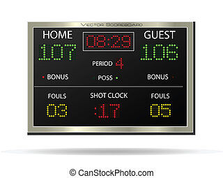 Scoreboard, Vector Illustration - Image of a vector...