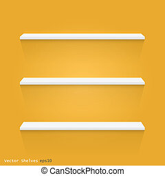 Floating Shelves, Vector Illustration - Image of white...