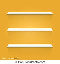 Floating Shelves, Vector Illustration - Image of white...