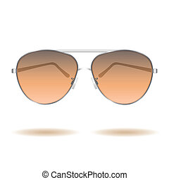 Sunglasses - Image of sunglasses isolated on a white...