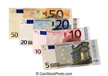 Money - Banknotes of 5,10,20,50 euros