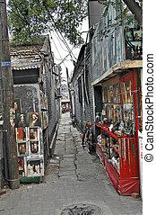 beijing - hutong alley in Peking, China