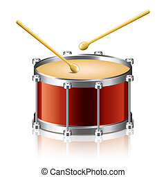 Bass drum vector illustration - Bass drum vector isolated on...