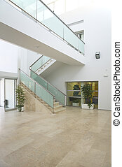 Entrance hall in a modern building