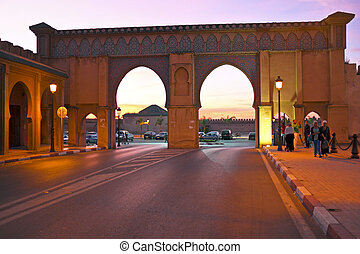 FES. MOROCCO - OCTOBER 15: Bab Boujelud Gate to the old...