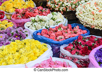 Flowers for Sale on the Street in India