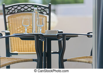 table chair on the veranda of a private house