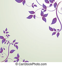 leaves in the form of abstract banner
