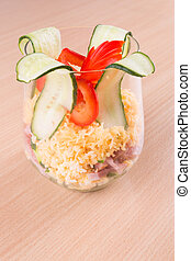 salad in a glass of vegetable