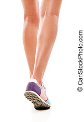 Sport exercise - Sport, fitness. Legs in action
