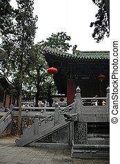 shaolin - View from inside the courtyard of the temple of...
