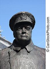 Winston Churchill - Statue of Winston Churchill in Paris
