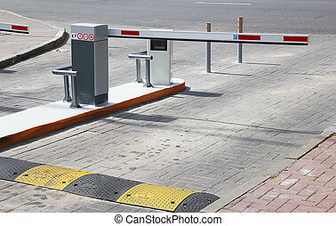 Car Parking - Barrier on the car parking