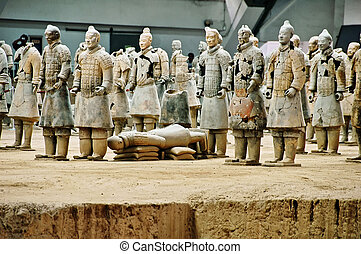 the clay warriors - Xian - the clay warriors - China
