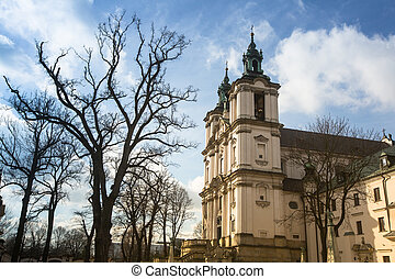 View of the Church of St Stanislaus Bishop in Krakow