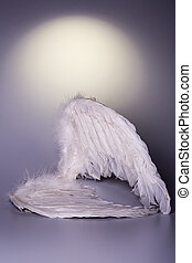 angel's wings on white background with glow - looks like a...