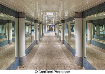 Underground pedestrian passage in Monte Carlo.