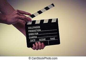 Película, Chica descocada, woman?s, Manos, blanco,...