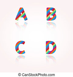 color alphabet letters