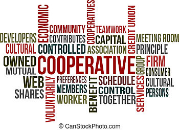 Cooperative - A word cloud of Cooperative related items