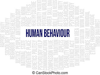 Human Behaviour - A word cloud of Human Behaviour related...