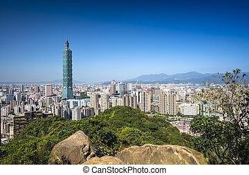 Taipei Taiwan - Taipei, Taiwan skyline at daytime