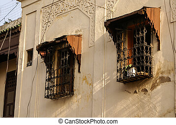 Fes (Fez) is consist of thousants small streets like this one. Houses are mande one on top the old one.
