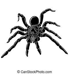 Spider tattoo - vector illustration. clip art