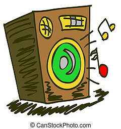 speaker - Abstract music background with speaker. Clip art