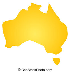Map of Australia, abstract graphical design illustration