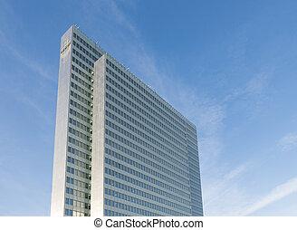sky scraper - high building in dusseldorf, germany